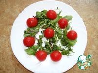 Легкий салат с моцареллой, овощами и форелью ингредиенты