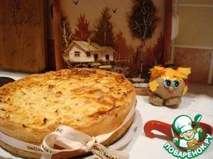Рецепт Открытый пирог с ливером и капустой