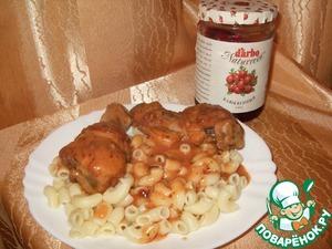 Рецепт Курочка в томатно-клюквенной подливке
