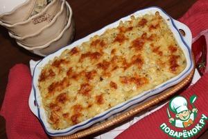 Рецепт Макароны, запеченные с четырьмя сырами