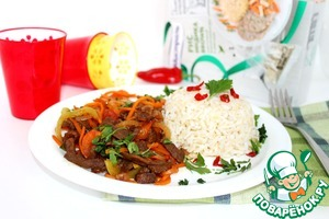 Рецепт Говядина стирфрай с коричневым рисом