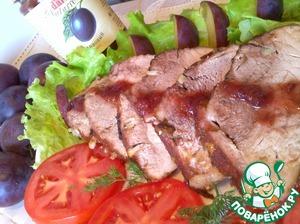 Рецепт Запеченный окорок со сливовым соусом D'arbo