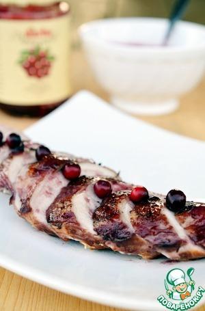 Рецепт Куриная грудка в бруснично-винном маринаде