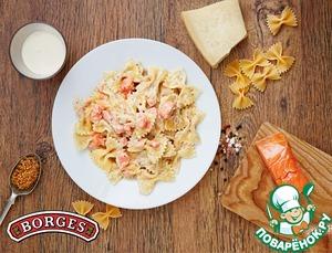 Рецепт Фарфалле с лососем в сливочном соусе