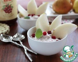 Рецепт Творожный десерт с ягодным соусом Darbo