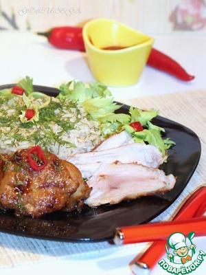 Рецепт Карамелизированная курочка с рисом