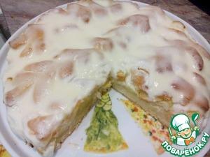 Рецепт Пирог с яблоками и сметанным соусом