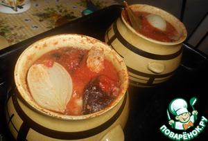 Рецепт Гороховый суп в горшочке