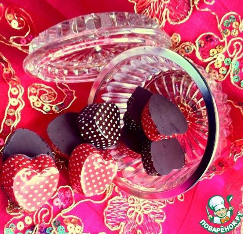 Шоколадные конфеты с двойной начинкой