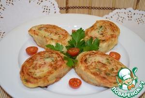Рецепт Рулетики из лаваша с картошкой и колбасой