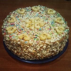 Рецепт Кофейно-банановый тортик на сковороде