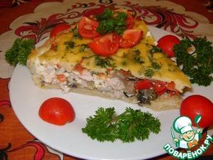 Рецепт Киш с индейкой и овощами