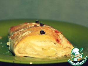 Рецепт Творожно-яблочный штрудель