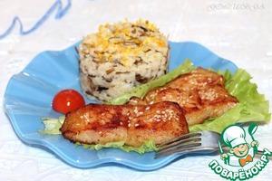 Рецепт Рыба с рисом и апельсиновым джемом