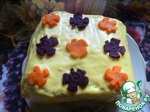 """Рецепт Закусочный хлебный торт """"По домашнему..."""""""