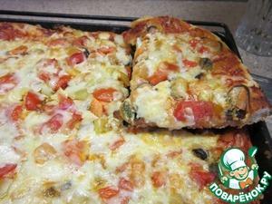 Рецепт Пицца с мидиями и пицца с мясом