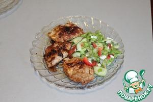 Рецепт Свинина с яйцами и шампиньонами