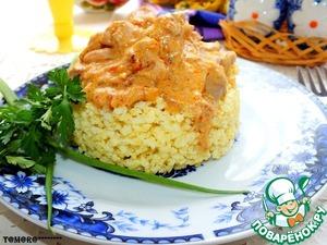 Рецепт Мясо в соусе с золотым пшеном