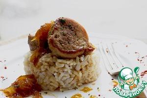 Рецепт Свиная вырезка в винно-медовом соусе