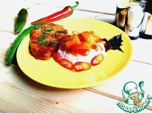 Рецепт Говядина в томатно-ананасовом соусе