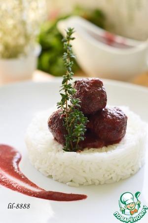 Рецепт Тефтели из телятины в кизиловом соусе