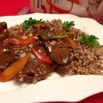 Печень с овощами по-китайски