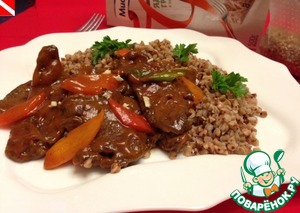 Рецепт Печень с овощами по-китайски
