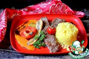 Рецепт Арабский обед с янтарным рисом