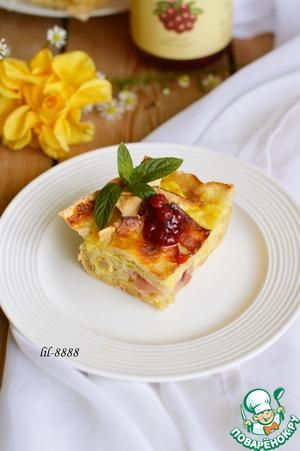 "Рецепт Пирог из лаваша с яблоком и соусом ""Дикая брусника"" (D'arbo)"