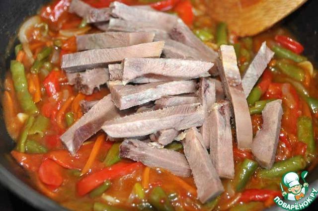 говяжий язык с овощами рецепт