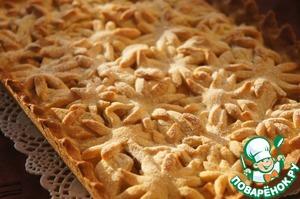"Рецепт Яблочный пирог ""Цветочная поляна"""