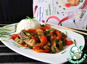 Кальмар тушеный с овощами по-китайски рецепт