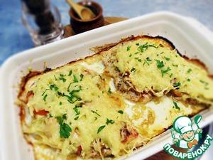 Рецепт Куриное филе под сырно-овощной шубой