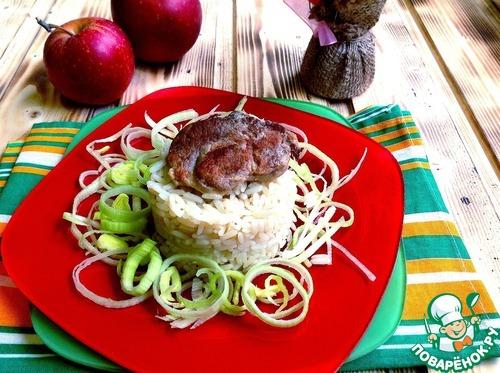 мясо в яблочном соусе рецепт