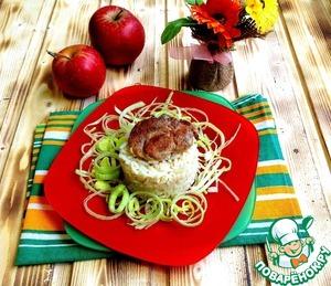 Рецепт Свинина в сметанно-яблочном соусе с корицей