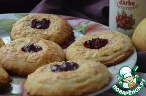 Рецепт Печенье яблочное с клюквенным соусом