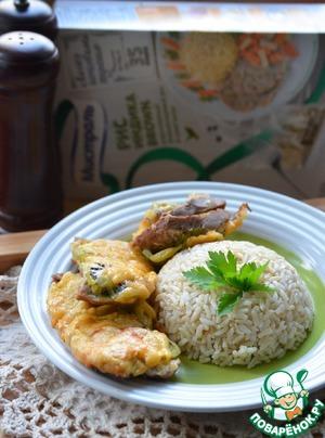 Рецепт Свинина с киви под сырной корочкой и рисом