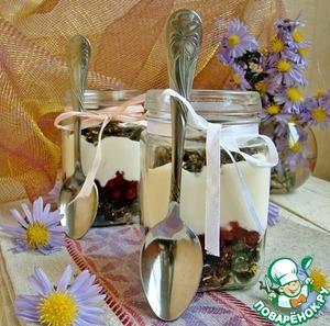 Рецепт Десерт в рижском стиле с брусничным соусом