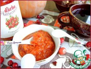 Рецепт Джем тыквенный с клюквенным соусом