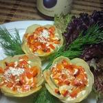 Картофельные корзиночки с куриным фаршем