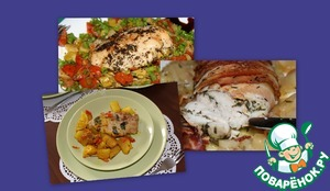 Рецепт Варианты запеченной куриной грудки