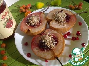 Рецепт Запеченные груши с брусничным соусом D'arbo