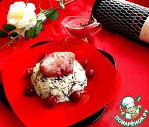 Рецепт Свиная вырезка в вишнево-сливочном соусе