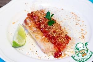 Рецепт Филе трески с соусом из томатов с красной фасолью