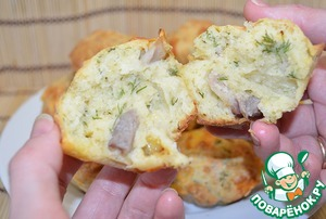 Рецепт Маффины с сыром и беконом