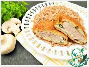 Рецепт Свиные отбивные в грибном кляре с гречкой