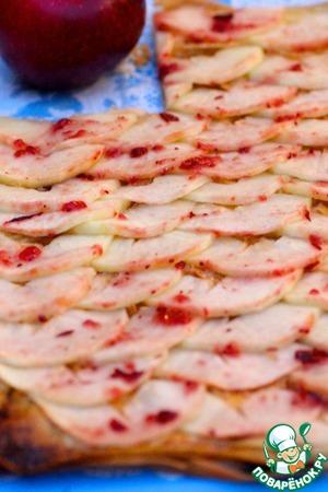 Рецепт Яблочно-клюквенный пирог