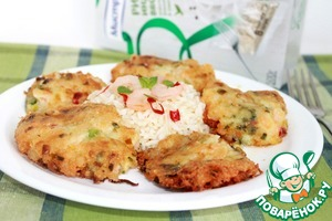 Рецепт Биточки из креветок с бурым рисом