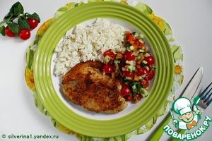 Рецепт Жареная тилапия с овощной сальсой
