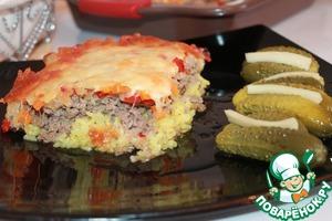 Рецепт Запеканка мясная с рисом и овощами